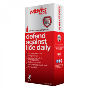 NitWits anti lice spray was formulated to treat head lice quickly and effectively. Pyrethroid-free treatment easy for parents and hassle-free for kids.