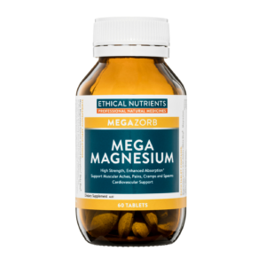 Ethical Nutrients MEGAZORB Mega Magnesium supports muscular aches, pains, cramps and spasms.