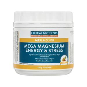 Ethical Nutrients MEGAZORB Mega Magnesium Energy & Stress Tropical has high strength, enhanced absorption Meta Mag with Rhodiola.